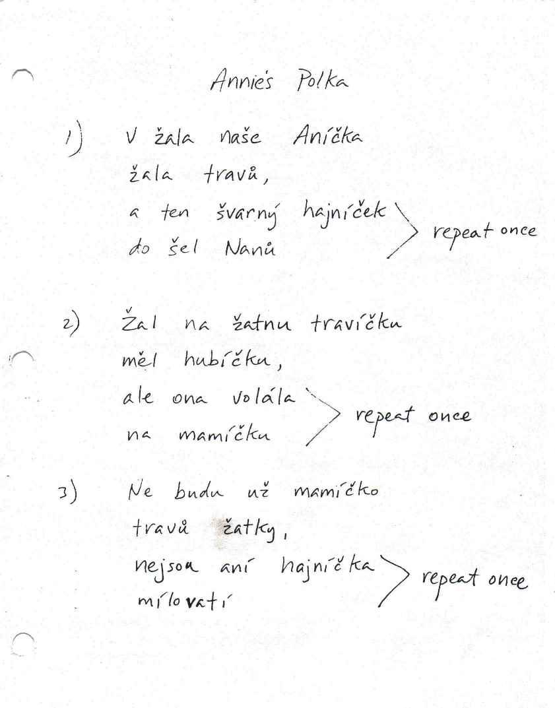 Czech Melody Masters - Czech Lyrics